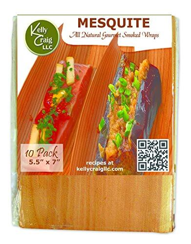 Kelly Craig SW-13-001 All Natural Smoked Grilling Wraps (10 Pack), Mesquite