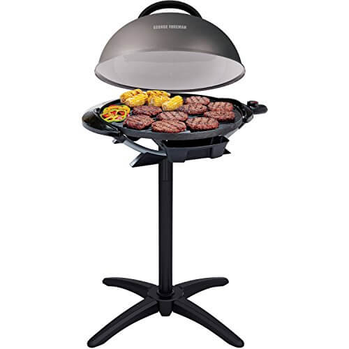 George Foreman 240″ Nonstick Removable Stand Indoor/Outdoor Electric Grill