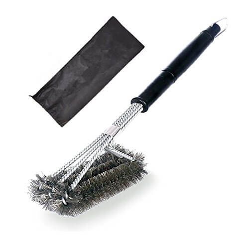 Atiyoc BBQ Grill Brush, Effective and Durable Barbecue Brushes with Stainless Steel Wire Bristles for Grill Cooking Grates, Racks & Burners Cleaning