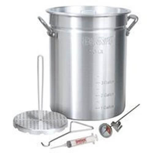 New Bayou Classic 3025 Large 30 Quart Aluminum Turkey Fryer Cooker With Kit