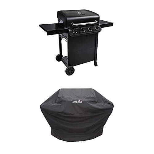 Char-Broil Performance 475 4-Burner Cart Gas Grill- Black with Performance Grill Cover
