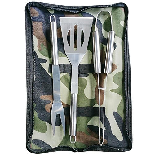 Nakital Heavy Duty BBQ Grilling Tools Sets,Extra Thick Stainless Steel Spatula, Fork & Tongs. Gift Box Package,Best For Barbecue & Grill,18 Inch Utensils Turner Accessories