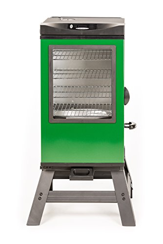 Masterbuilt 20077116 4-Rack Digital Electric Smoker with Leg Kit Cover and Gloves, 30″, Green