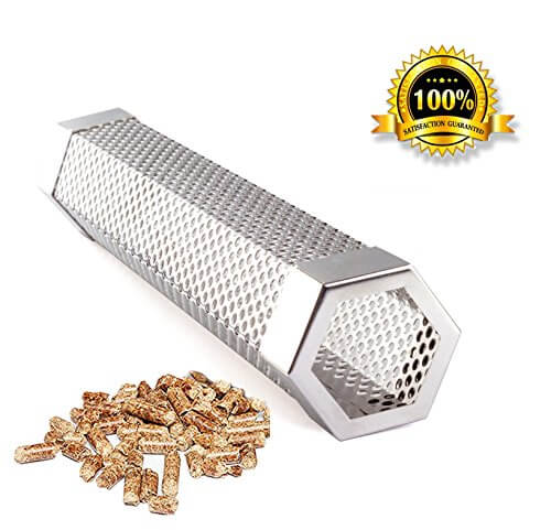 Pellet Smoker Tube Smoker Pipe 12″ Stainless Steel BBQ Pellets Grill for Cold & Hot Smoking