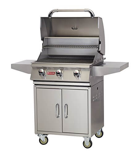 Bull Outdoor Products 69102 NG Steer Premium Grill with Cart Natural Gas
