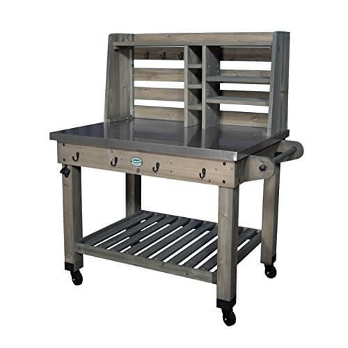 Backyard Discovery Patio Serving Cart, Barn Stain