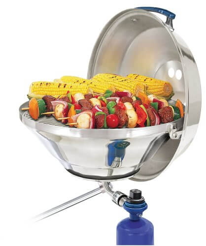Magma Products, A10-215 Marine Kettle Gas Grill with Hinged Lid, Party Size