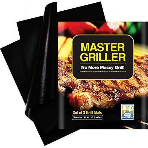 Grilling Mat – BBQ Accessories For Gas, Charcoal and Electric Grills – Easy to Clean, Reusable and Nonstick – Set of 3 Grill Mats