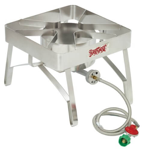 Bayou Classic SS84 Stainless Steel Brew Stove with Windscreen