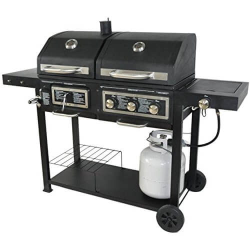 Portable Dual Fuel Combination Charcoal/Gas Barbecue Outdoor Grill