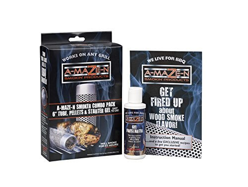 """A-MAZE-N Products Smoker Combo Pack 6"""" Tube, Pellets & Starter Gel – COMBO6"""