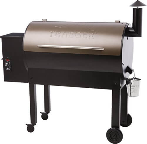 Traeger TFB65LZBC Texas Elite 34 Series Wood Pellet Grill, Black and Bronze