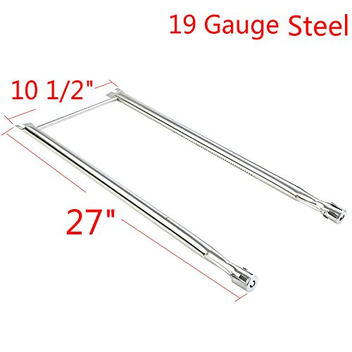 GASPRO 2 Burner Tube Set Replacement for Weber Genesis Spirit 500, Spirit 500 LX, Genesis Silver A, Lowes and Other Gas Grill-19 Ga Stainless Steel( Corrosion and Heat Resistant)