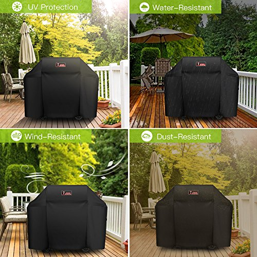 Kingkong Grill Cover 7130 Fits Weber Genesis II 3 burner and Genesis II 300 Series Grills (Compared to Weber 7130 ) including Brush, Tongs and Thermometer, 58-Inch