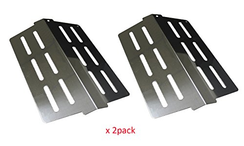 BBQ funland SH622 (2-pack) Stainless Steel Grill Heat Deflectors, Heat Plate Replacement for Weber 7622, Weber Genesis 300 series grills