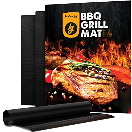 BBQ Grill Mat, Set of 3 Non-stick Grill Mats, Barbecue Utensil for Gas, Charcoal, Electric Grill
