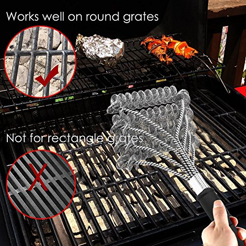 Geekroom HOLIDAY DEAL- Safe Grill Brush Bristle Free Barbecue Grill Brush 100% Rust Resistant Stainless Steel BBQ Grill Cleaner Best Gift Cleaning Tool for All Barbecue Lovers