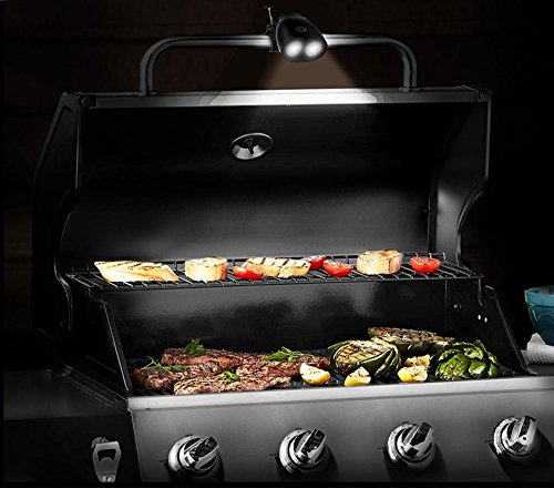 2018 UPGRADED Waterproof Barbecue Grill Light – Durable BBQ Light – 10 Super Bright Led, 200 lm Brightness – IP65 Waterproof Level – Fireproof ABS- Heat Resistant Aluminium Alloy Clip, Adjustable body