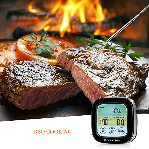 SMARTRO Meat Thermometer Instant Read Food Thermometer Digital Cooking Thermometer with Timer Alert 2 Probes for Oven, Kitchen, Grill, Smoker, BBQ