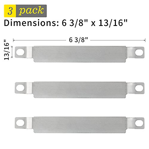SHINESTAR Crossover Tube Universal Stainless Steel Carryover Tube Burner Replacement for Charbroil, Backyard Grill, Kenmore, Master Chef, 3-Pack Carry Over Tube Cross Over Channel(6 3/8 inch, CSR001)
