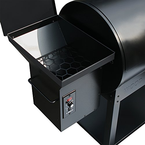 Z Grills Wood Pellet Grill and Smoker 700Sq in. With Seri-2 Contrlol Systerm For Outdoor bbq smoke Roast Bake Braise Grilling 7-in-1 Barbecue Grill Waterproof Cover Gift