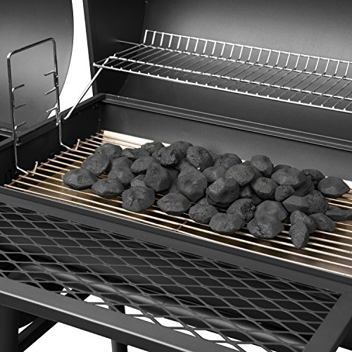 "Royal Gourmet BBQ Charcoal Grill with Offset Smoker, 30"" L, New Process Paint Not Flake"