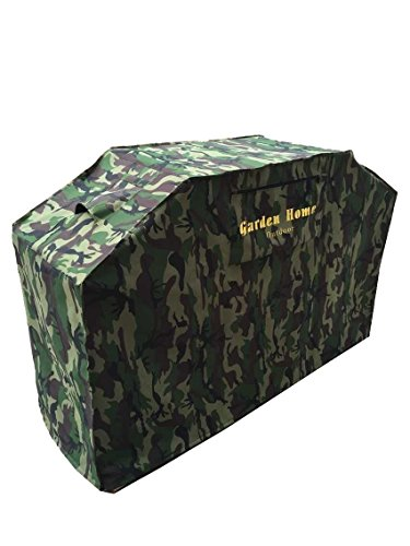 Grill Cover – garden home Up to 64″ Wide, Water Resistant, Air Vents, Padded Handles, Elastic hem cord – Heavy Duty burner gas BBQ grill Cover Camo