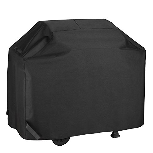 Kainier BBQ Grill Cover Waterproof &Weather Resistant Heavy Duty 58 Inch 3-4 Burners Electric Gas Grill Cover Fit Weber, Charbroil, And Other Most Brands Of Outdoor Barbecue Stainless Grill. (Black)