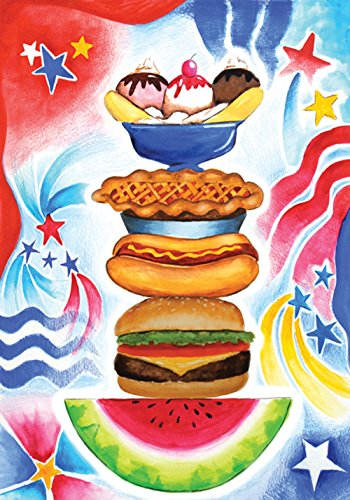 Toland Home Garden Patriotic Picnic 12.5 x 18 Inch Decorative Summer BBQ Grill July 4 Party Celebrate USA Garden Flag