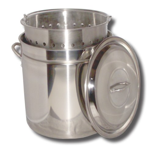 King Kooker KK82SR Ridged Stainless Steel Pot, 82-Quart