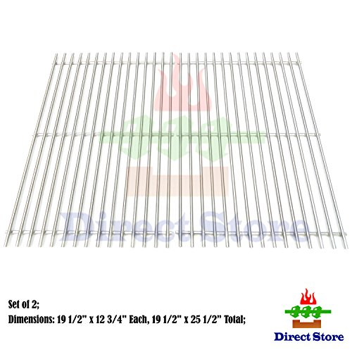 Direct store Parts DS114 Solid Stainless Steel Cooking grids Replacement  for Weber Genesis E and S series gas grills, Lowes Model Grills , Weber