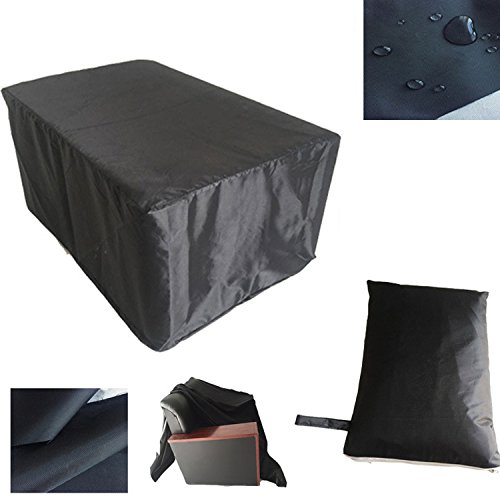 Furniture Cover Waterproof 420D Oxford Garden Patio Deck Outdoor Table Cover Large Round Furniture Set Cover HZC01-US 48″ Lx 48″ W x 29″ H (123cm x123cm x 74cm) Black
