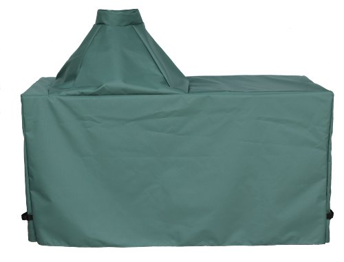 "Cowley Canyon Brand Large Ceramic Egg Type Kamado Table Cover, 60""L-27""W-31""H. Fits Large Big Green Egg, Kamado Joe Classic and others."