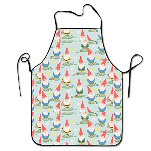 Cute Gnome Colorful For Unisex Cooking Aprons Easy Wrinkles Grill Apron