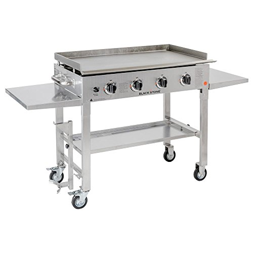 Blackstone 36 in 4-Burner Propane Gas Grill in Stainless Steel with Griddle Top