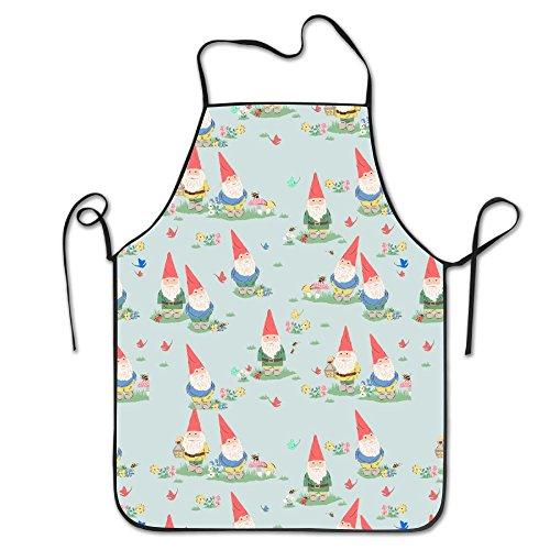 未标题-1 0004 图层-10cute Gnome Easy Care For Unisex Chef Aprons Waterproof Shrinkage Grill Apron