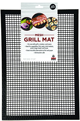 Grill Mat BBQ Tool – Mesh Grill Mat That Allows Smoke to Pass Through – Non-Stick – Perfect For Grills, Smokers and Ovens