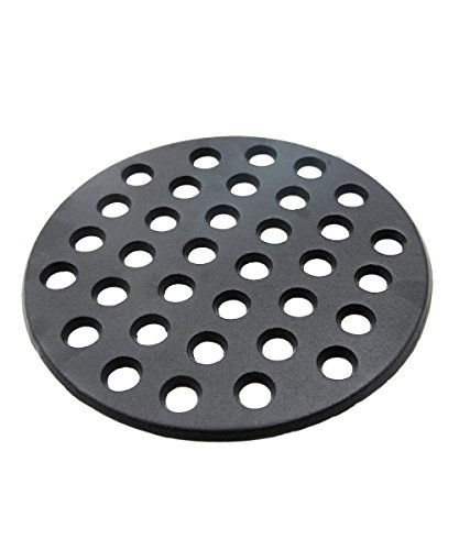"BBQ High Heat Cast Iron Charcoal Fire Grate Fits for Large big green egg fire grate and kamado joe grill parts charcoal grate replacement accessories-9"" LFGC"