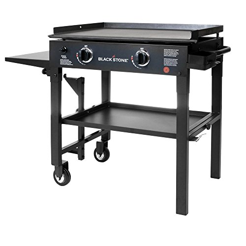 Blackstone 28 in 2-Burner Propane Gas Grill in Black with Griddle Top