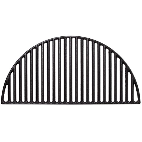 Half Moon Cast Iron Grate,BBQ Grill Grate Fire Pit Grate Cast Iron Grate For Big Green Egg XLarge And Kamado Grills (22 inch)