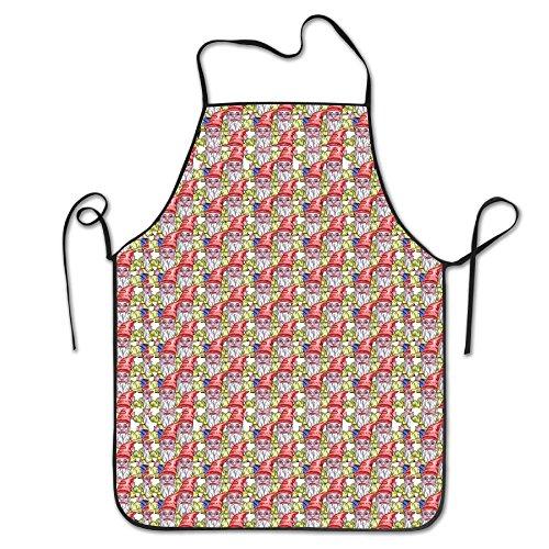 Cute Gnome Super Soft For Teens Kitchen Apron Adjustable Shrinkage Studio Apron