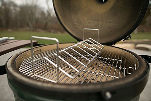 BBQ Stainless Steel V Rib Rack Work for Big Green Egg, Primo,Vision, Kamado Ceramic Grills all Indoor Ovens Egg Accessories for Smoker Roasting True Rack Charcoal Cooking