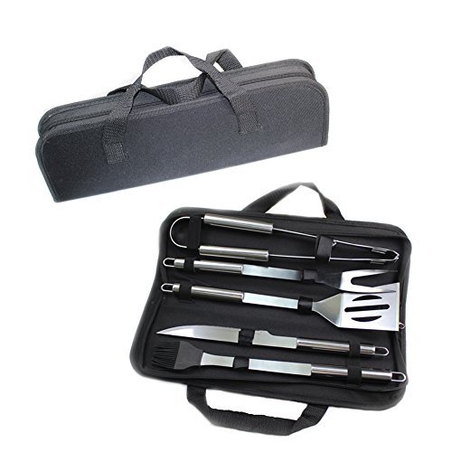 MFEI BBQ Grill Tools Set Complete Grill Tool Kit – Outdoor Accessories Kit in Storage Case- Perfect Gift for Father's Day Gift