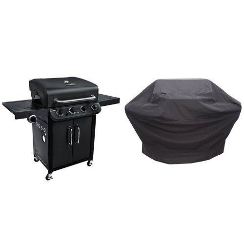 Char-Broil Performance 475 4-Burner Cabinet Gas Grill- Black with Performance Grill Cover, 3-4 Burner: Large