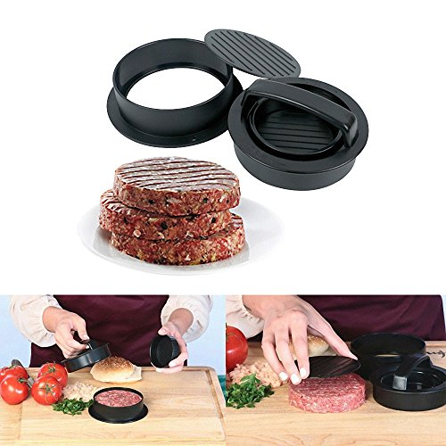 Amy Non Stick Burger Press, Different Size Patty Molds and Non Sticking Coating, Easy to Use,Works Best for Stuffed Burgers, Sliders, Regular Beef Burger, Essential Kitchen & Grilling Accessories