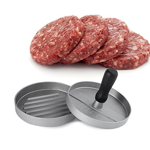 ACLUXS Hamburger Press Aluminum Burger Press, Heavy Duty Non-Stick Hamburger Patty Maker, Perfect Hamburger Mold Ideal for BBQ,Essential Kitchen & Grilling Accessories