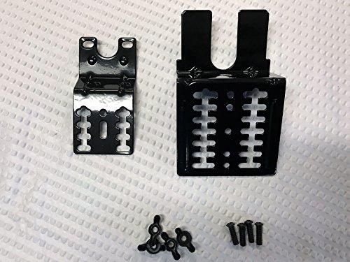 Gas Grill Universal Black Rotisserie Motor & Handle Bracket Kit with Hardware