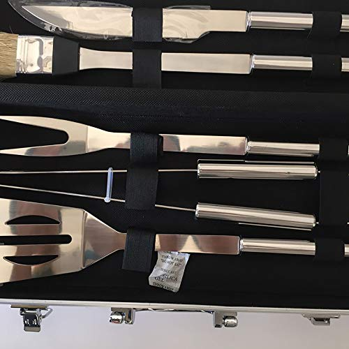 Pevor BBQ Barbecue Tools Combination Set Stainless Steel Pipe Barbecue Sets