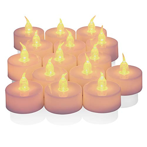 Tea Lights,25 Pack Flameless LED Tea Lights Candles,Battery Operated Realistic and Flickering Bulb Tealights,Fake Candles,Warm Amber, Best Ideal for Votive,Wedding,Party, Holidays and BBQ