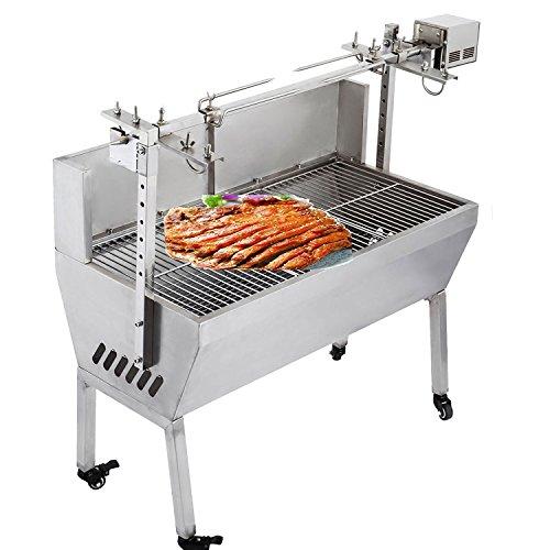 OrangeA BBQ Pig Lamb Rotisserie Roaster Skewer Roast Grill Motor 110V 23W BBQ Portable Picnic Outdoor Cooker Grill (Capacity 132 Lbs/60KG)